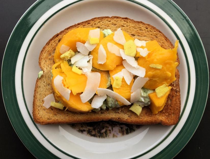 Mango and Ginger Avocado Toast