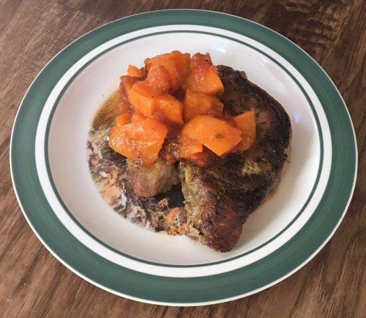 pork chops with peach salsa